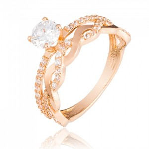 Золотое женское кольцо 1/1002 Kievg