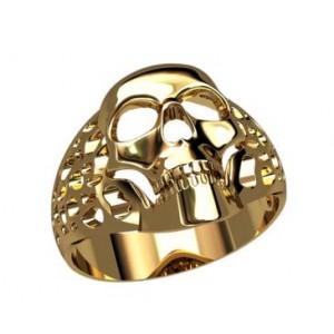 Золотая мужская печатка 30222