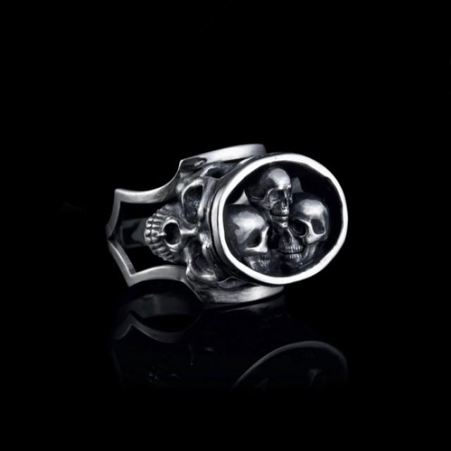 Серебряная печать с черепом 18250