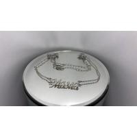 Серебряное колье 861092