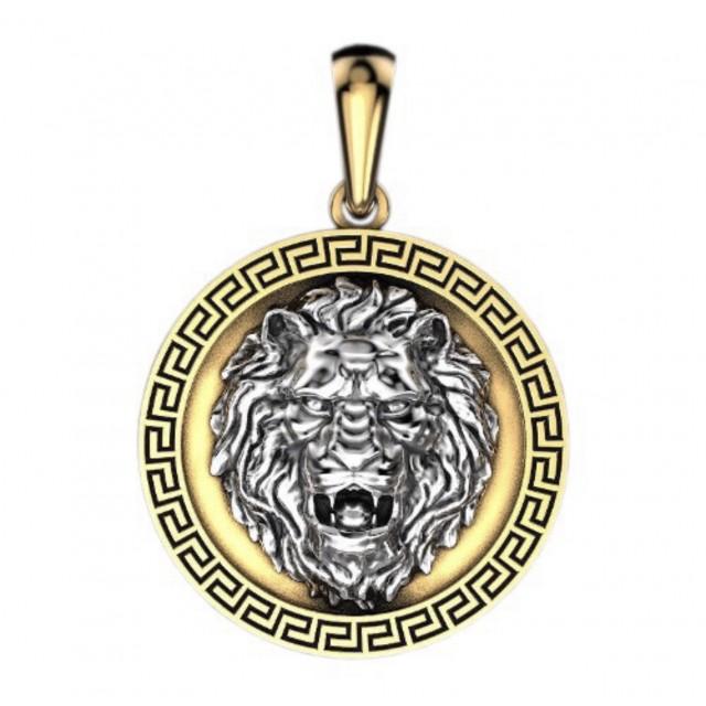 Золотой подвес Лев