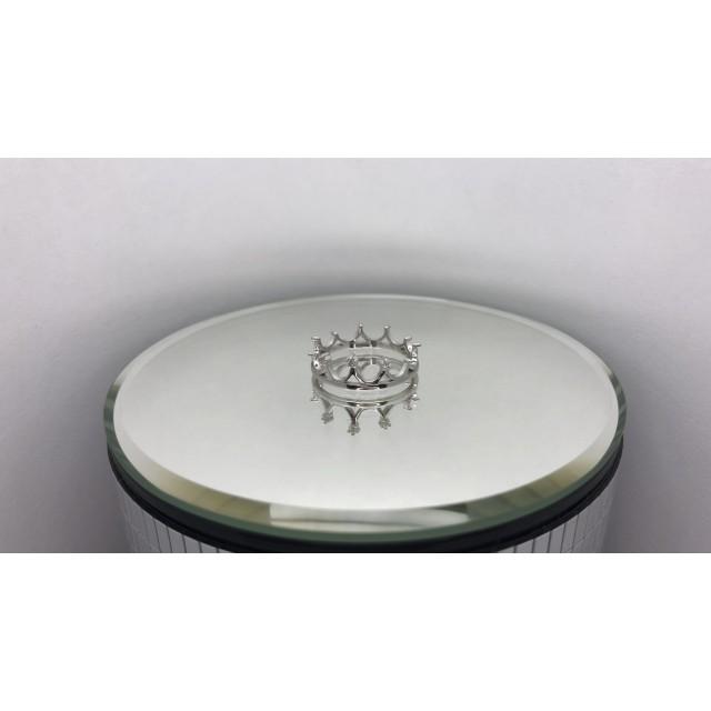 Серебряное кольцо корона 1622073