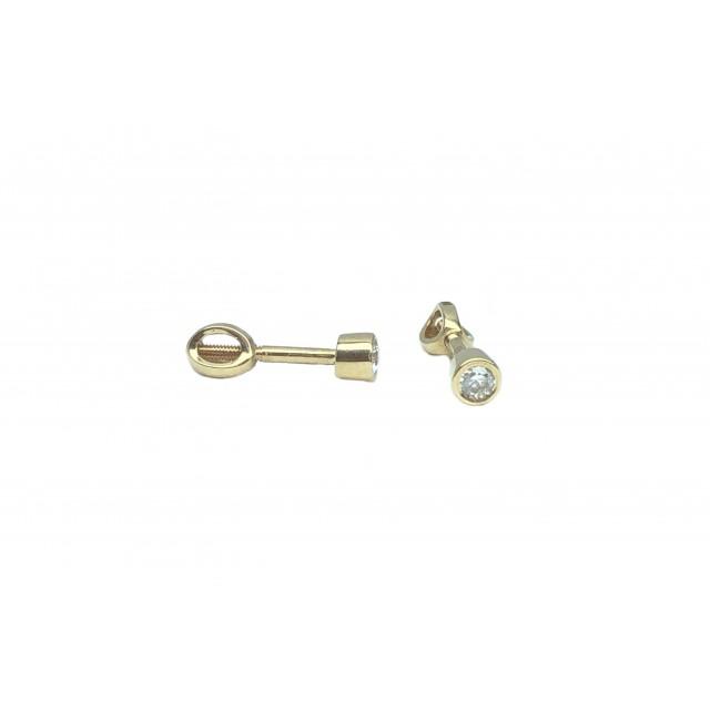 Золотые серьги гвоздики 212016