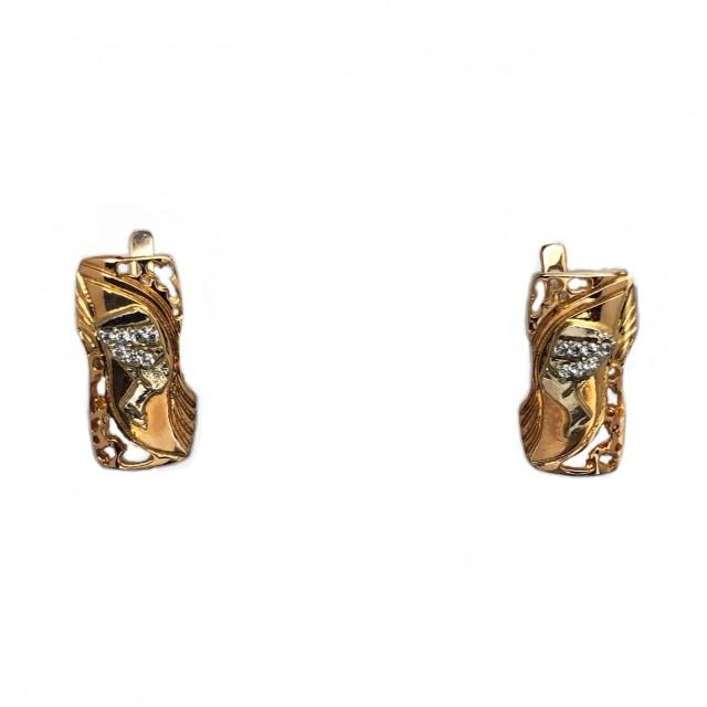 Золотые женские серьги 431/035