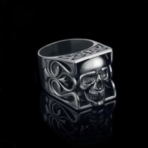 Серебряная печать с черепом 18240