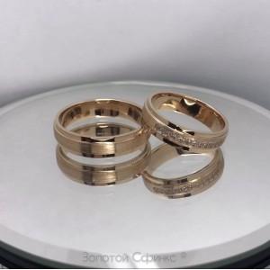 Золотое обручальное кольцо 415347 фото