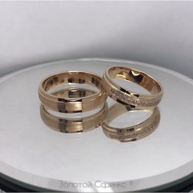 Золотое обручальное кольцо 415347