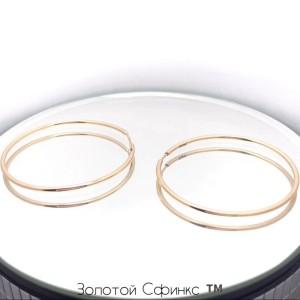Золотые серьги кольца 2005644101 фото