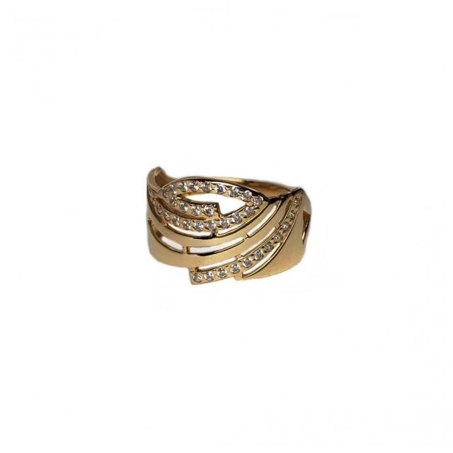 Золотое женское кольцо 10578