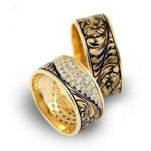 Золотое обручальное кольцо 415162