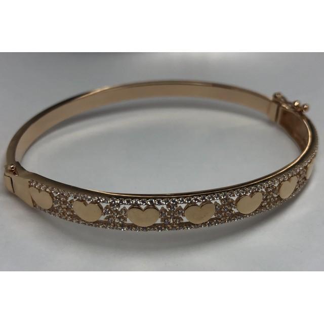 Золотой браслет с фианитами 4215603101