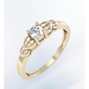 Золотое кольцо с фианитами К133 Platon
