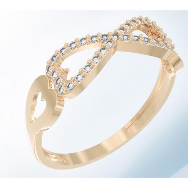 Золотое женское кольцо K121 Platon