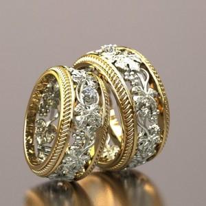 Золотое обручальное кольцо 415010