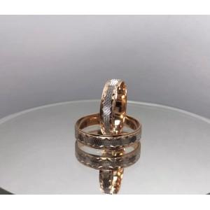 Золотое обручальное кольцо 415005