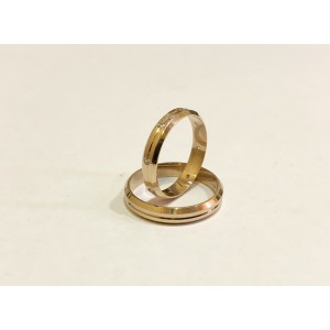 Золотое обручальное кольцо К 131 Janetta