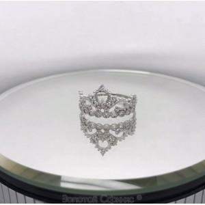 Серебряное кольцо корона 1624383