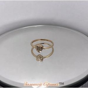 Золотое женское кольцо 9101693