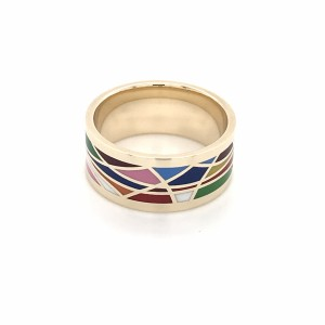 Золотое обручальное кольцо с эмалью Frey Wille