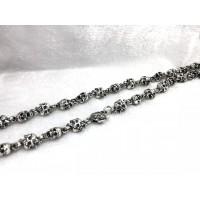 Серебряная цепь байкерская 4811002