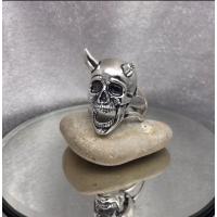 Серебряная печать с черепом 18270