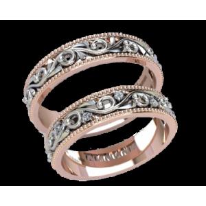 Золотое обручальное кольцо 20050