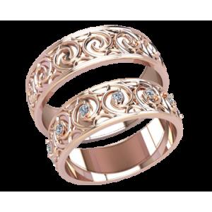 Золотое обручальное кольцо 20073