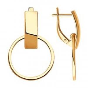 Золотые женские серьги 212001
