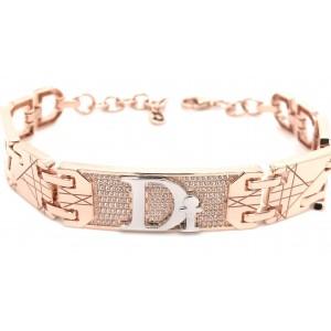 Золотой браслет Dior фото
