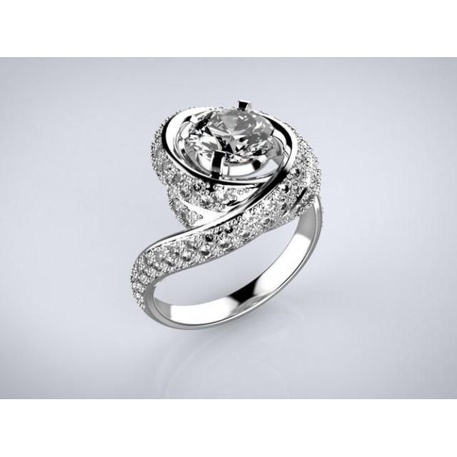 Золотое кольцо для помолвки 1195291