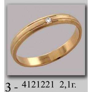 Золотое обручальное кольцо 4121221