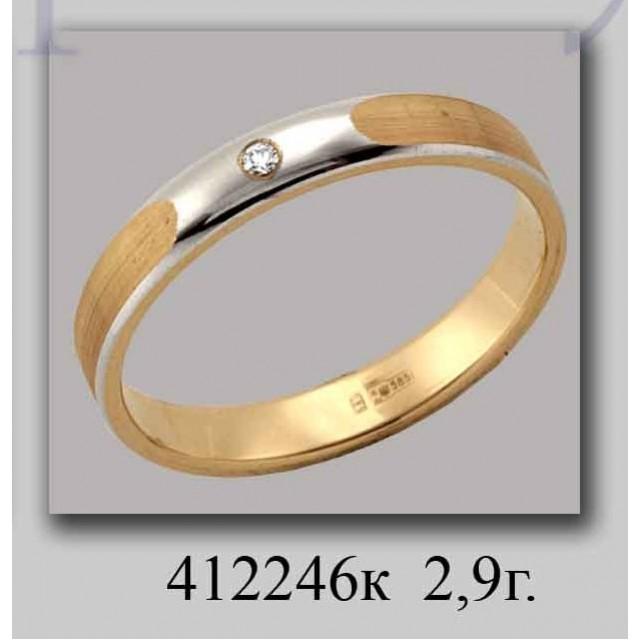 Золотое обручальное кольцо 412246