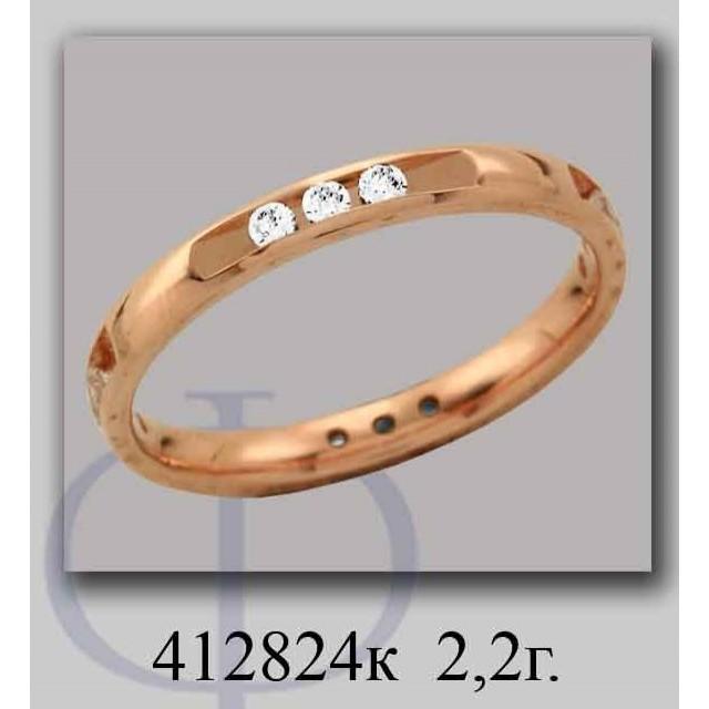 Золотое обручальное кольцо 412824