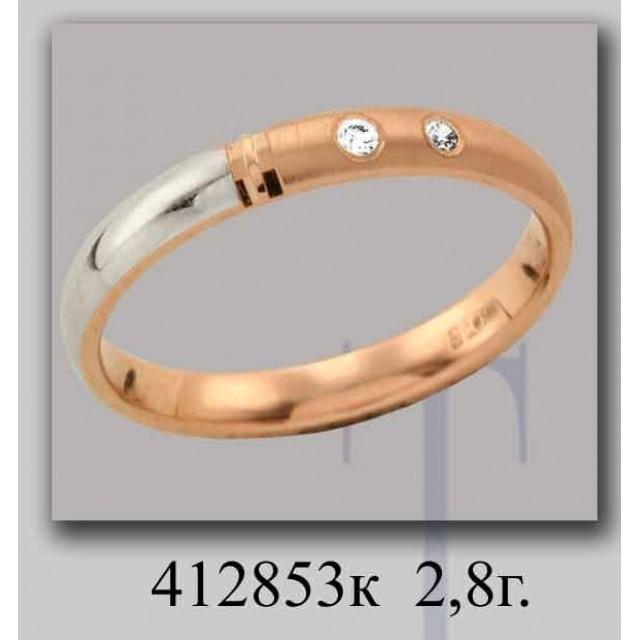 Золотое обручальное кольцо 412853