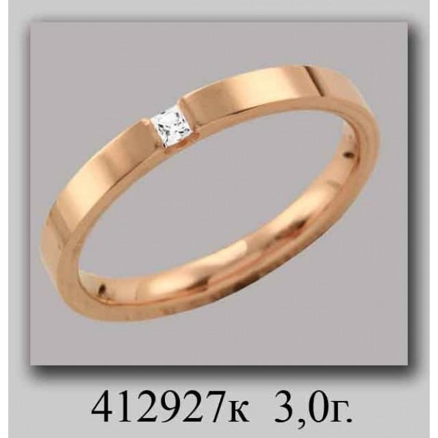 Золотое обручальное кольцо 412927 фото
