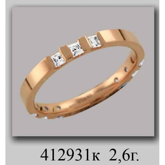 Золотое обручальное кольцо 412931