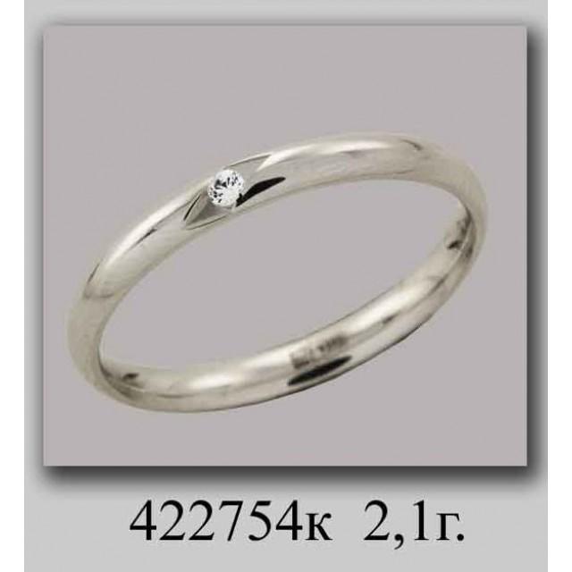 Золотое обручальное кольцо 422754