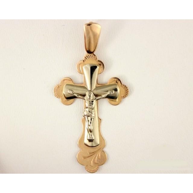 Золотой крестик 210057