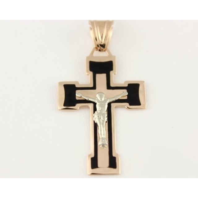 Золотой крестик 210101