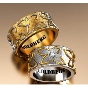 Золотое обручальное кольцо Goldberg 10-97