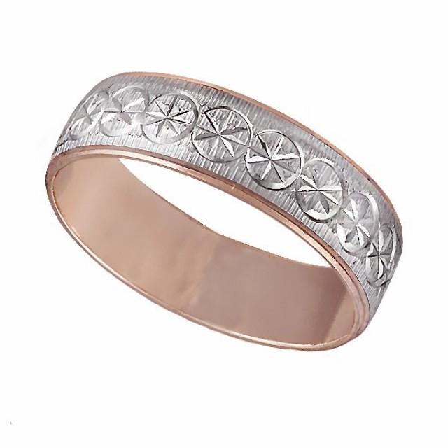 Золотое обручальное кольцо К008