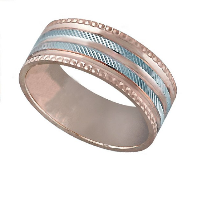 Золотое обручальное кольцо К014