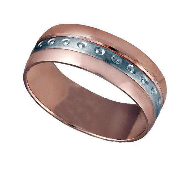 Золотое обручальное кольцо К042 фото