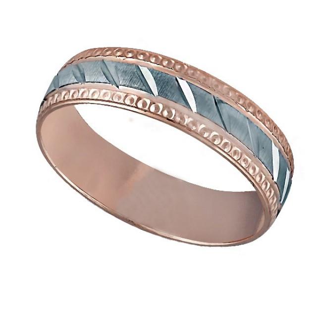Золотое обручальное кольцо К044