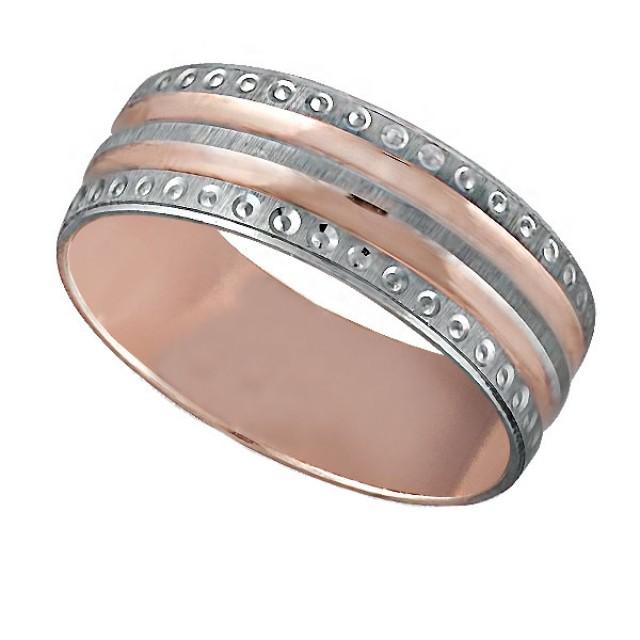 Золотое обручальное кольцо К049 фото