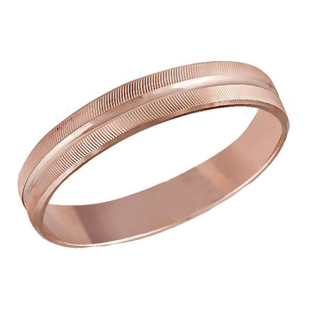 Золотое обручальное кольцо К052 фото