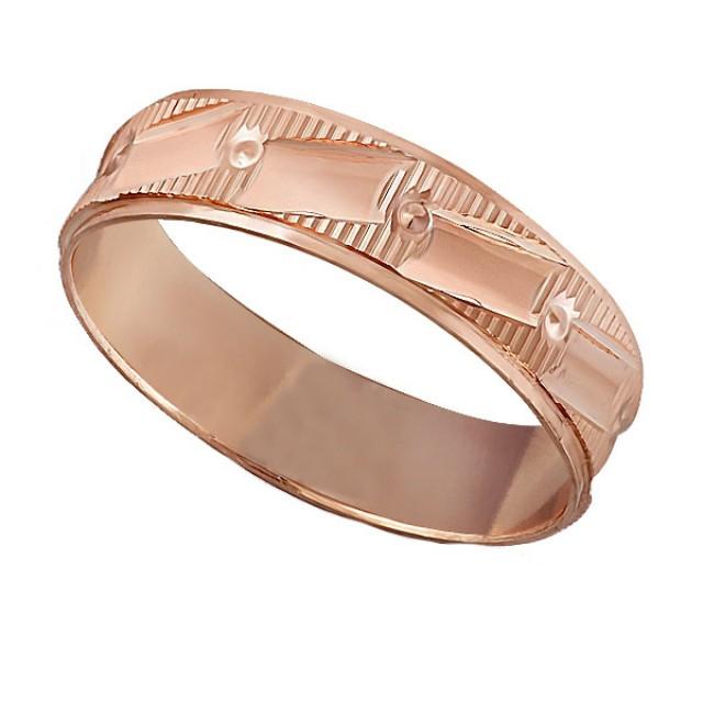 Золотое обручальное кольцо К112