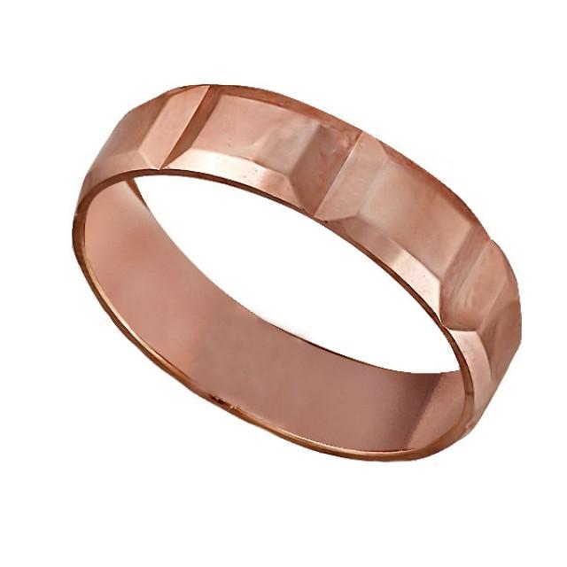 Золотое обручальное кольцо К116 фото