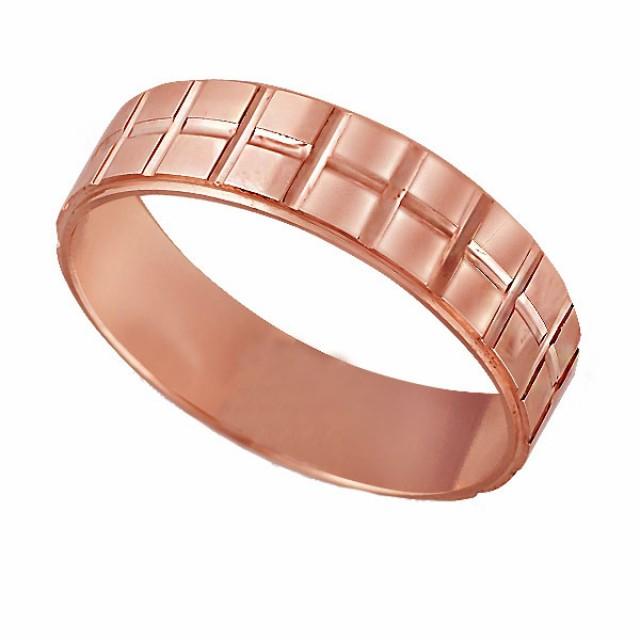 Золотое обручальное кольцо К117