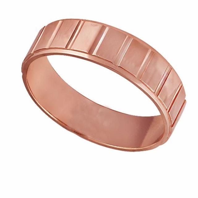 Золотое обручальное кольцо К129 фото